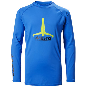 Musto Youth Insignia UV Fast Dry L/Sleeve Rash Guard Brilliant Blue
