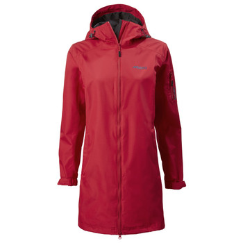 Sardinia Long Rain Jacket Women - Red