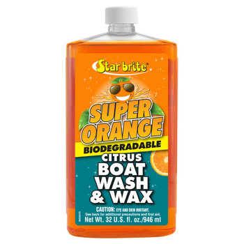 Starbrite Super Orange Citrus Boat Wash & Wax 1L