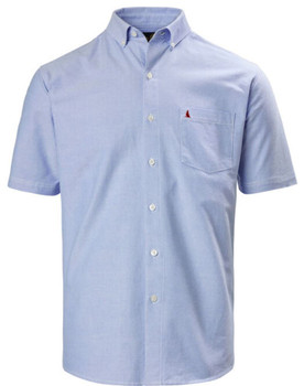 Musto Aiden Short Sleeve Oxford Shirt - Pale Blue