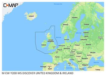 C-Map EW-Y200-MS Ireland and UK Chart