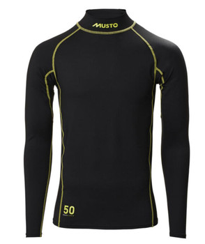 Musto Sunblock Long Sleeve Rash Guard - Black