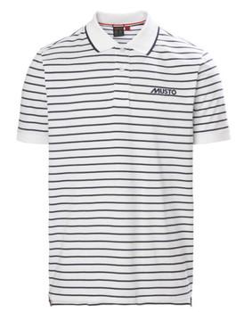 Musto Rhine Stripe Polo - White