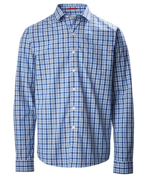 Musto Riviera Long Sleeve Shirt - Blue check