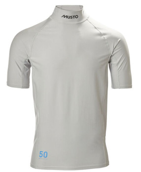 Musto Sunblock Dynamic S/Sleeve top - light grey