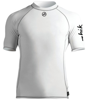Zhik Short Sleeve Spandex Top - Mens - Crisp White