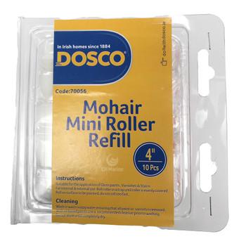 "Spare 4"" Mohair Paint Roller Head Bulk Pack"