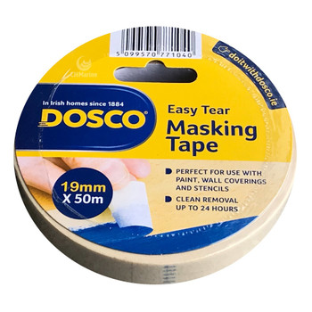 Dosco Painters Masking Tape 19mm x 50mtr