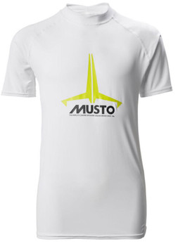 Musto Youth Insignia UV Fast Dry Short Sleeve Tee - White