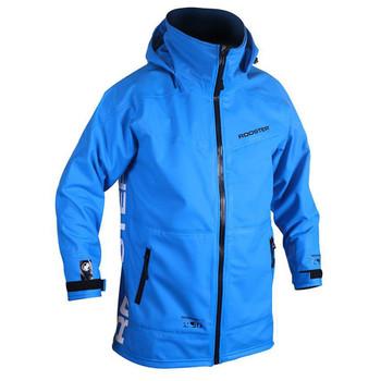 Rooster Pro Aquafleece Rigging Coat Men - Signal Blue - hood down