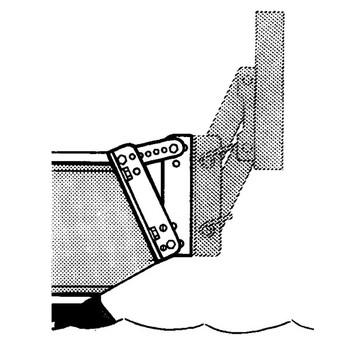 Trem 5-30 Degree Angle Adjuster Bracket for Outboard Bracket