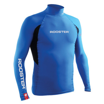 Rooster junior long sleeved rash vest -  signal blue