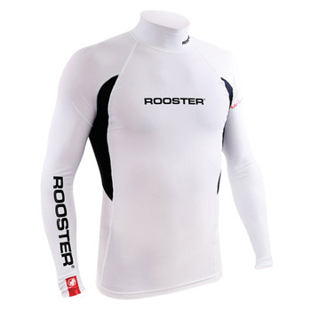 Rooster junior long sleeved rash vest -  white