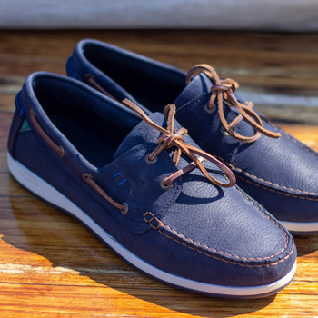 Dubarry Armada navy deck shoes