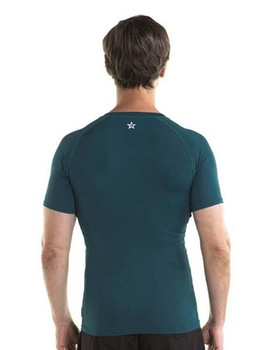 Jobe Shortsleeve Rash Guard - Men's - Dark Teal Back