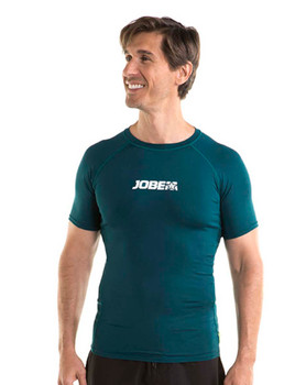 Jobe Shortsleeve Rash Guard - Men's - Dark Teal Front