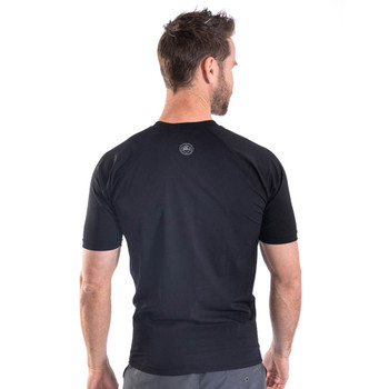 Jobe Men's Shortsleeve Black Rash Guard - back