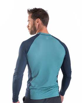 Jobe Men's Longsleeve Rash Guard - Vintage Teal - back