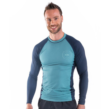 Jobe Longsleeve Rash Guard - Men's - Vintage Teal