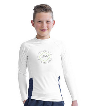 Jobe Long Sleeve Rash Guard - Kids - White