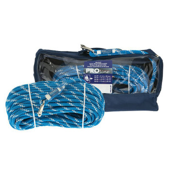 Polyropes Proline Main Halyard with Wichard Shackle - Blue 8mm x 30m