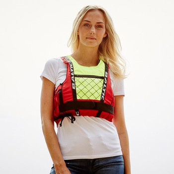 Baltic Dinghy Pro Buoyancy Aid 50N in red and UV yellow