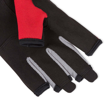 Musto Essential Sailing  Red Short Finger Gloves - palm