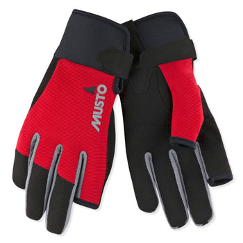 Musto Essential Sailing Long Finger Gloves - Red
