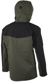 Guy Cotten Eureka Jacket in Green / Black  - Magic hood back