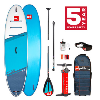 "Red Paddle Ride 10 ' 8"" Inflatable SUP Package - C50 2021 Model"