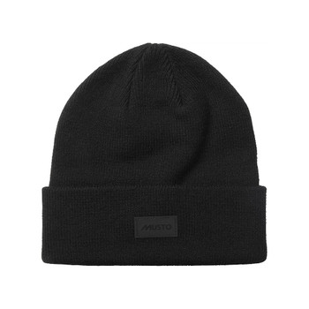 Musto Shaker Cuff Beanie - Black - Front
