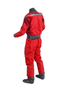 Palm Atom Dry Suit - Flame/Chilli - back