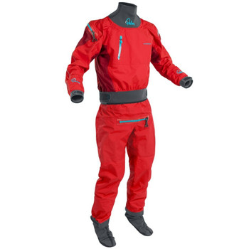 Palm Atom Dry Suit - Flame/Chilli - front