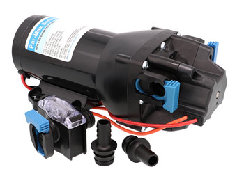 Jabsco Par Max HD4 Water Pressure Pump -12V 25PSI with pump guard