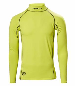Musto Sunblock L/Sleeve Rash Guard- Sulphur Spring - Front