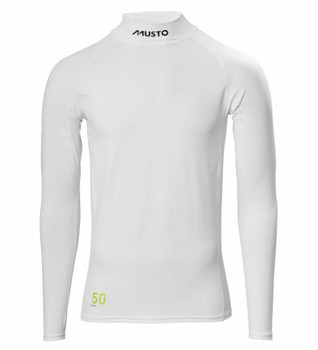Musto Sunblock L/Sleeve Rash Guard- White