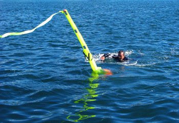 SOS Inflatable Rescue Dan Buoy with Webbing straps