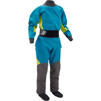 NRS Women's Pivot Drysuit, Front Right, Fjord