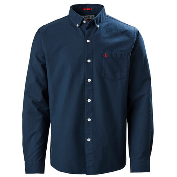Musto Aiden Oxford L/Sleeve Shirt - Men - True Navy