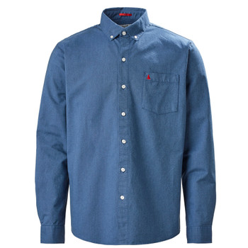 Musto Aiden Oxford L/Sleeve Shirt - Men - Coastal Blue front