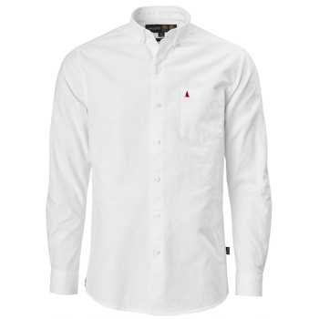 Musto Aiden Oxford L/Sleeve Shirt - Men - White front