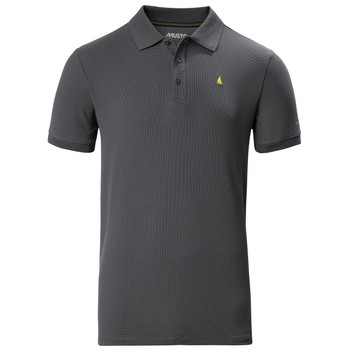 Musto Evolution Pro Lite Plain Short Sleeve Polo - Charcoal