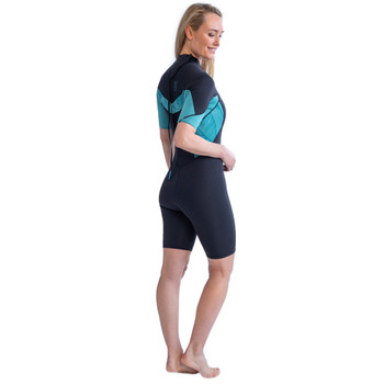Jobe Sofia Shorty 3/2mm Wetsuit for Women in Vintage Teal - back view
