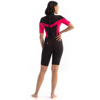 Jobe Sofia Shorty 3/2mm Wetsuit for Women in Hot Pink - back