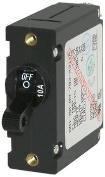 Blue Sea 7204 A-Series Toggle Circuit Breaker - Single Pole - 10A Black