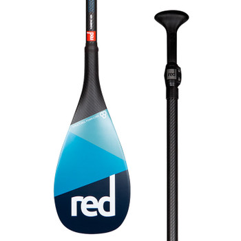 This performance paddle uses a carbon weave for greater strength whilst keeping the paddle super light and responsive.  The blade shape is a teardrop design with a single dihedral blade face. This allows water to flow evenly off each side creating a smooth and stable stroke, whilst the double concave offers the user to really put the power down