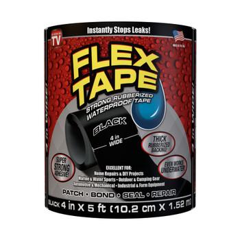 Flex Tape Rubberised Waterproof Tape 10cm x 152cm - Black