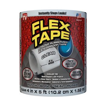 Flex Tape Rubberised Waterproof Tape 10cm x 152cm - Clear