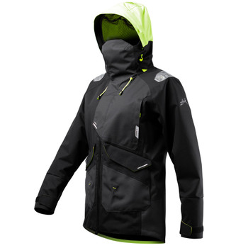 Zhik OFS700 Women's Jacket in black for offshore and coastal sailing - angled
