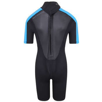 Typhoon Swarm3 Child's Shorty Wetsuit 250992 in black/blue - back